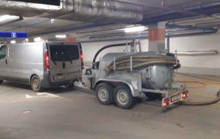 Darbai požeminiame parkinge
